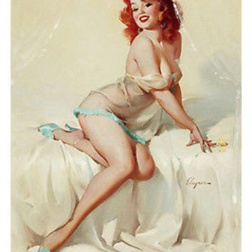 1958 DARLENE SEXY GIRL BEDSIDE MANNER poster 24X36 redhead PIN-UP BUXOM