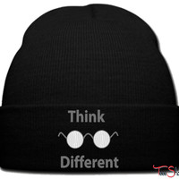 think different ba beanie knit hat