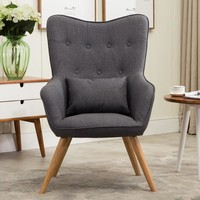 Mid Century Modern Style Armchair Sofa Chair Legs Wooden - Free Shipping