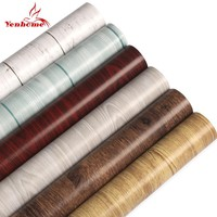 5M/10M Wood Grain Cupboard Room Shelf Kitchen Cabinet Countertop PVC Self Adhesive Wallpaper Boeing Film Furniture Wall Stickers