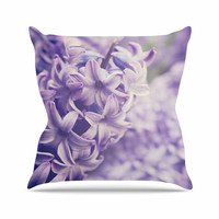 "Angie Turner ""Lavender Dreams"" Purple Lilac Outdoor Throw Pillow"