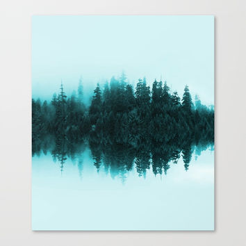 Cloudy Forest Canvas Print by creativeaxle