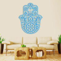 Wall Decal Vinyl Sticker Decals Art Decor Design Hamsa Hand yin yang Indian Buddha Ganesh Lotos Modern Bedroom Dorm Office Mural  (r1002)