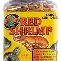 Zoo Med Large Sun-Dried Red Shrimp 2.5 oz