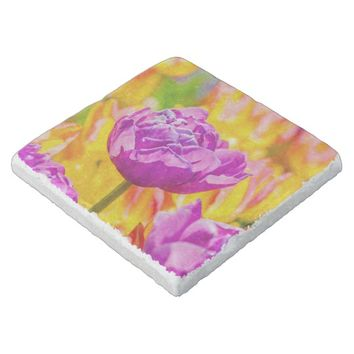Tulips Enchanting 12 Stone Coaster