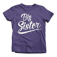 Shirts By Sarah Girl's Big Sister T-Shirt Sibling Matching Shirts