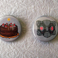 The Cake and Companion Cube from Portal  125 Fridge by sacari