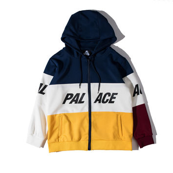 Palace Skateboards Hoodie Mens Womens High Quality Cotton Patchwork Environmental Winter Palace Windbreaker Hoodie