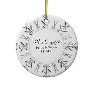 Snowflake Engagement Photo Ornament from Zazzle.com