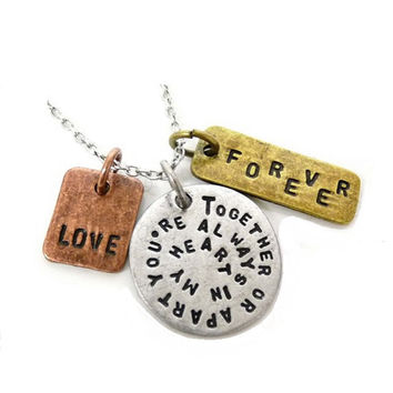 Together or Apart, Forever, Love Necklace