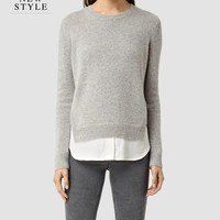 Womens Wick Sweater (MIRAGE GREY) | ALLSAINTS.com