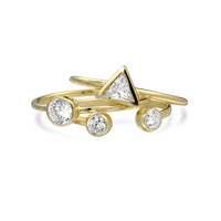 Bling Jewelry Tri Shapes Ring Set