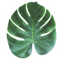 DCCKF4S 12pcs Artificial Leaf 35x29cm Tropical Palm Leaves Simulation Leaf for Hawaiian Luau Theme Party Decorations Home garden decor