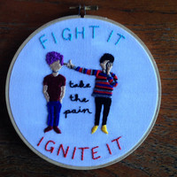"Twenty One Pilots Holding On To You 6"" Embroidery"
