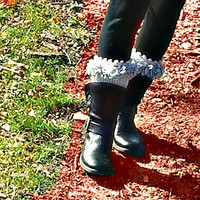Bohemian Grey Crochet Boot Cuff, Gray Boot Socks, Gray Boot Toppers, Winter Fashion,