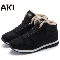 Warm Winter Fashion Men Women Snow Boots keep Warm Boots Plush Ankle boot Snow Work Shoes Men's Women's Outdoor Snow Boots 36-48
