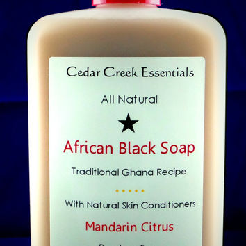 All Natural Skin Care -  African Black Soap - Large. Cedar Creek Essentials