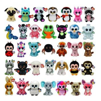 "Ty Beanie Boos Big Eyes  6"" 15cm Elephant Owl Unicorn Penguin Foxes Cute Stuffed & Plush Animals Toys Dolls"