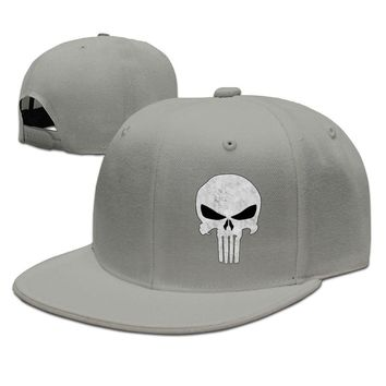 The Punisher's Skull Flag Printed Unisex Adult Womens Snapback Caps Mens Snapback Caps