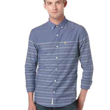 Original Penguin Heritage Slim Fit Horizontal Stripe Sport Shirt