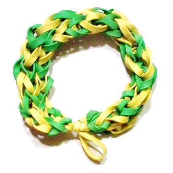Green Bay Packers Sports Bracelet - Green and Yellow Rubber Bands -  NFL Spiritwear - Wisconsin Football