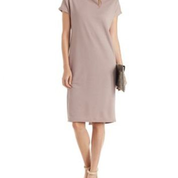 Taupe T-Shirt Shift Dress by Charlotte Russe