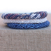 Lily and Laura: Bracelet Set, Indigo