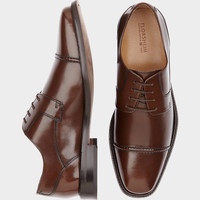Florsheim Asset Brown Lace Up Cap Toe Dress Shoes - Dress Shoes | Men's Wearhouse