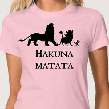 Disney Hakuna Matata Lion King Mufasa Disney Vacation Disney Trip Tee Shirt (Multi-Color Choices) Womens T-Shirt