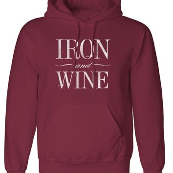 Iron Over Wine Pullover Hoodie