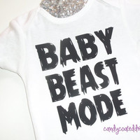 BABY BEAST MODE  t-shirt Onesuit bodysuit funny boys shirt kids clothes cute couture newborn rich eye catching trendsetting fly 2015 fashion