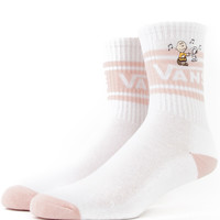Vans Women's x Peanuts, Dance Party Socks - White - Apparel - MLTD