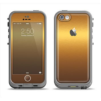 The Gold Shimmer Surface Apple iPhone 5c LifeProof Fre Case Skin Set