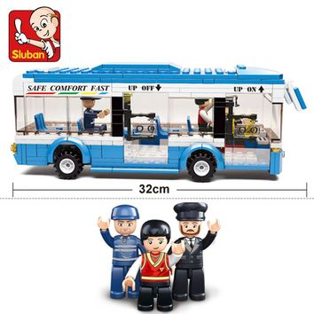 0330 City Bus Building Blocks bricks Educational DIY Bricks boys Toys birthdays compatible legoes gift kid set city bus car