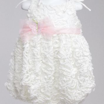 White Embellished Bubble with Tulle Butterfly
