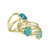 Stormy Stackable Rings in Blue Spring - Kendra Scott Jewelry