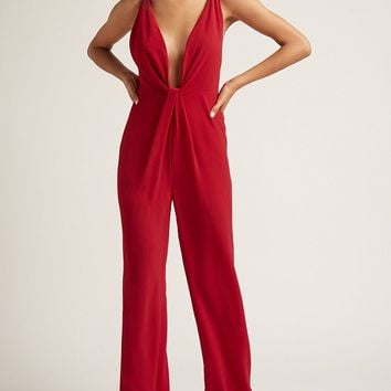 Plunging Palazzo Jumpsuit