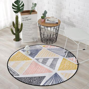 Europe Modern Round Carpets For Living Room Computer Chair Area Rug