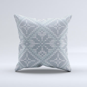 Knitted Snowflake Fabric Pattern ink-Fuzed Decorative Throw Pillow