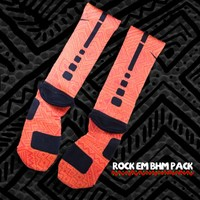 Black History Month Nike Elite Socks - Orange | Rock 'Em Apparel