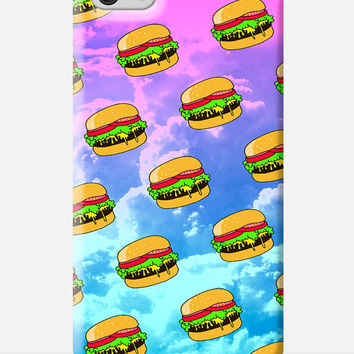 BURGER iPhone Case, cheeseburger iPhone 6 case, hamburger iPhone 6 case, pop culture illustration, meme iphone case, awesome cell case