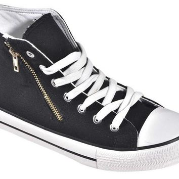 Trendy Canvas High Top Sneakers