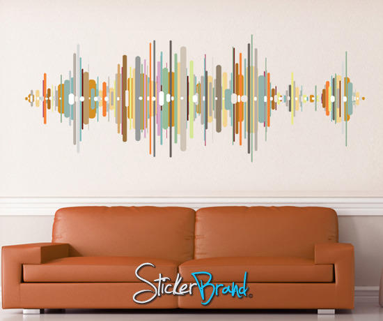 graphic wall decal sticker sound wave from stickerbrand