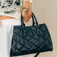 High Noon Black Quilted Purse