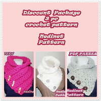 CROCHET PATTERN, crochet scarf pattern, crochet cowl pattern, discount crochet patterns, Pdf Pattern, child to adult