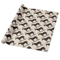 Brown Horse Wrapping Paper
