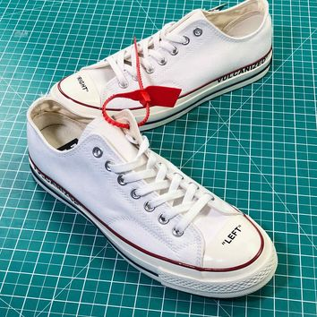 Off White X Converse Chuck Taylor All Star 1970s Low White Sneakers Shoes - Best Online Sale