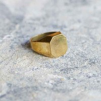 Lovebullets Hexagon Ring- Gold