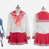 Lucky ☆ star red uniform cosplay costume Handmade