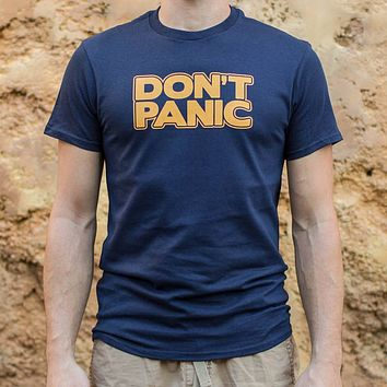 Don't Panic [Hitchhiker's Guide to the Galaxy Inspired] Men's T-Shirt